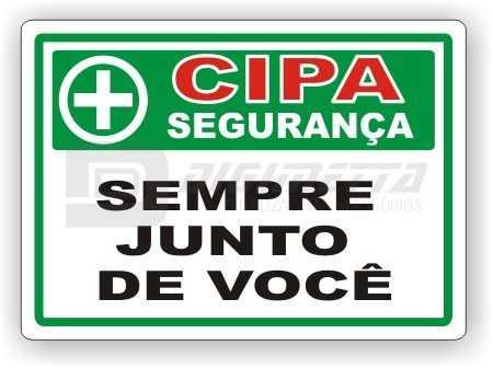 Placa: CIPA - Sempre Junto de Você