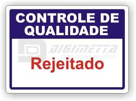 Placa: Controle de Qualidade - Rejeitado