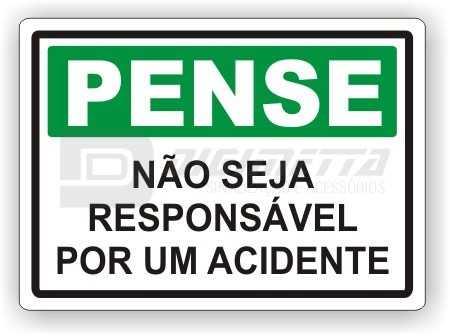 Placa: Não Seja Responsável Por Um Acidente