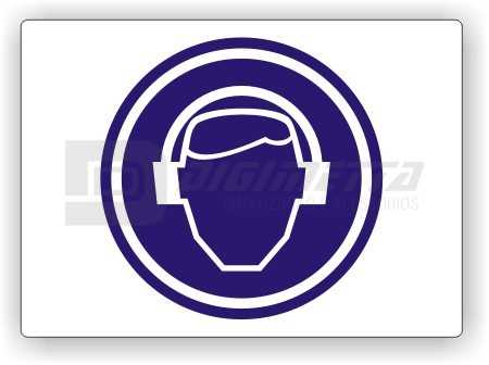 Placa: Comando - Use Protetor Auricular