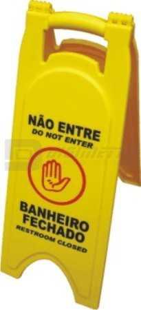 Cavalete Plástico: Banheiro Fechado - Não Entre