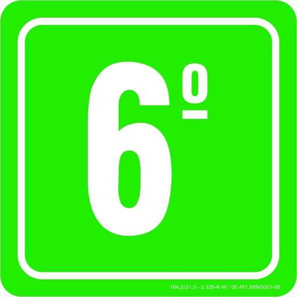 Placa de Indicação de Andares