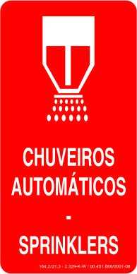 Placa: Chuveiros Automáticos - Sprinklers