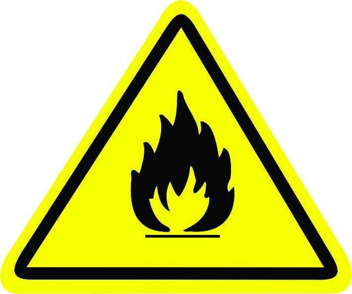 Placa: Pictograma Risco de Incêndio