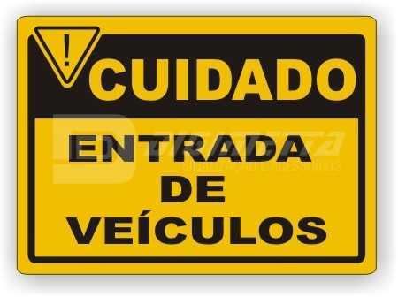 Placa: Entrada de Veículos
