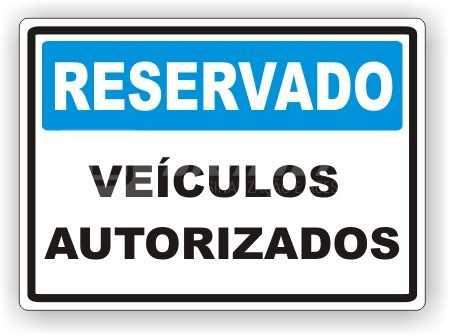 Placas: Veículos Autorizados