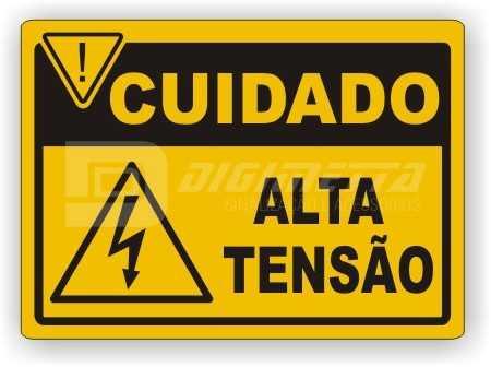Placa: Cuidado - Alta Tensão