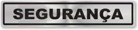 Estas placas são utilizadas na identificação de ambientes, organização e setores.Material : Etiquetas em vinil prateado / Plástico / Alumínio compostoMedidas : 25 x 05 / 30 x 08 cm