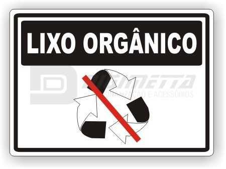 Placa: Não Jogue Lixo Orgânico