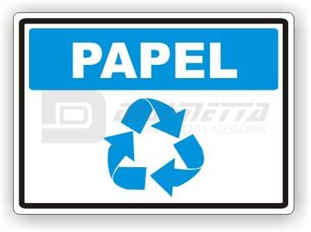Placa: Deposite Somente Papel