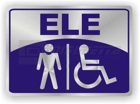 Placa: Sanitário Masculino e para Deficientes Físicos
