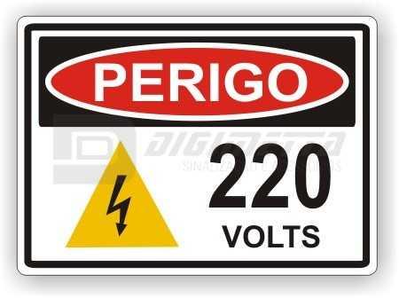 Placa: Perigo - 220 Volts