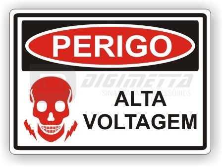Placa: Perigo - Alta Voltagem