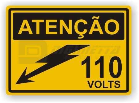 Placa: Atenção - 110 Volts