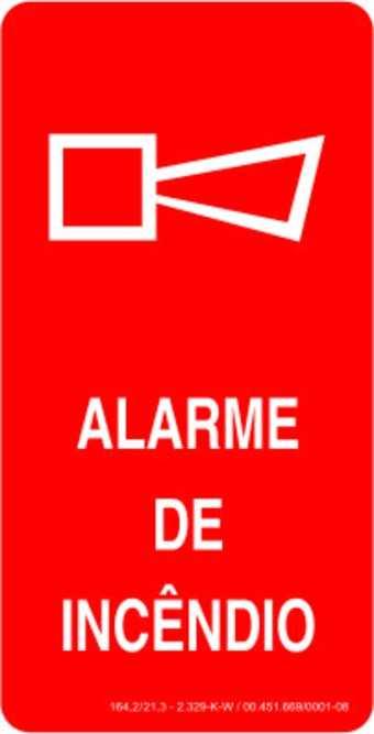 Placa: Alarme de Incêndio - Sirene