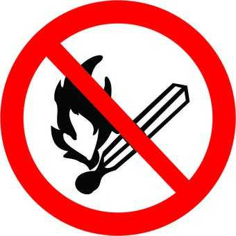Placa: Pictograma Proibido Produzir Chamas