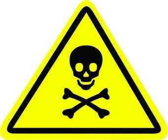 Placa: Pictograma Risco de Exposição a Produtos Tóxicos